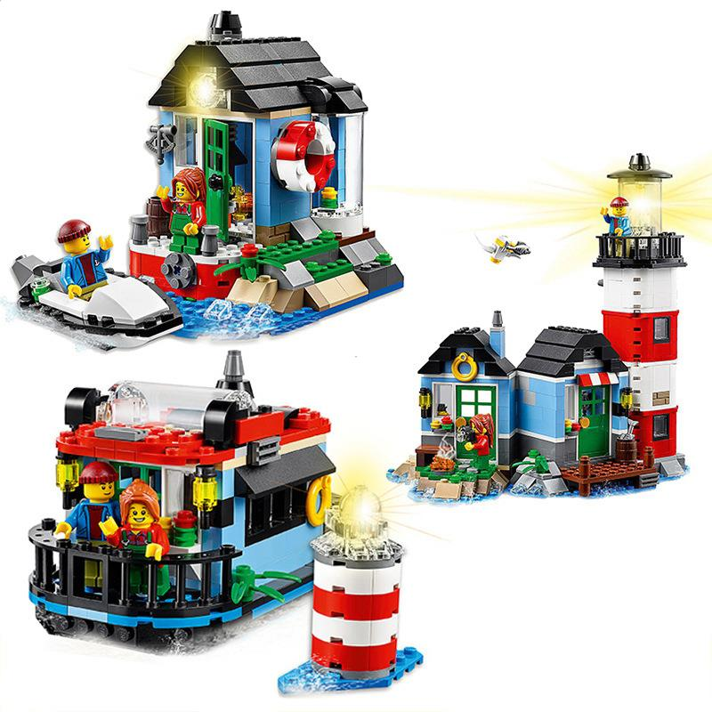 CHINA BRAND Educational Toys for children DIY Building Blocks 3in1 Lighthouse Point 31051 Compatible with Lego
