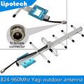 8 dBi 5 units Yagi Antenna 824-960MHz Outdoor Antenna For GSM 900mhz CDMA 850mhz Mobile Phone Signal Repeater Signal Booster