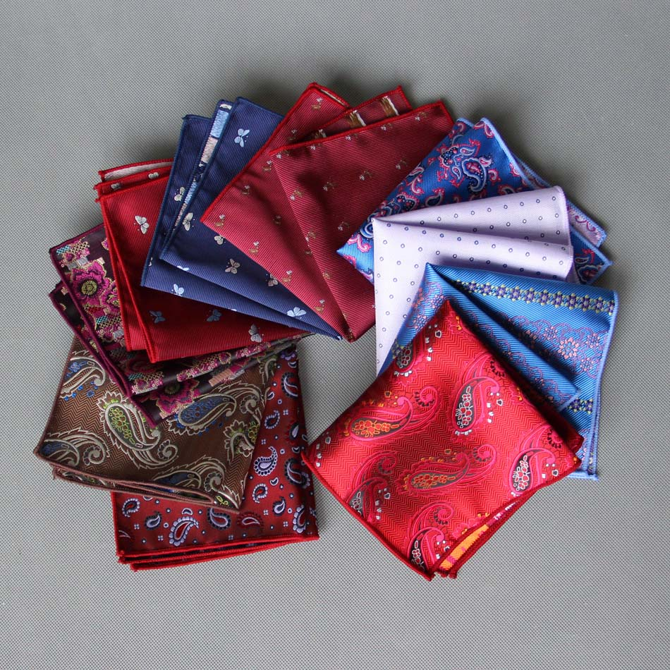 Unique MENS Handkerchief Man Paisley Cartoon Animal Patterns Dot Pocket Square Men Floral Casual Hankies Wedding Accessories