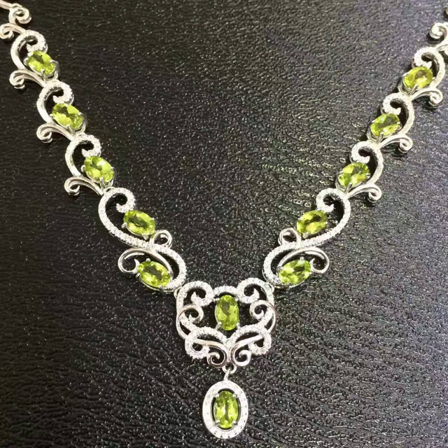 sterling fullxfull products il necklace chain raw peridot