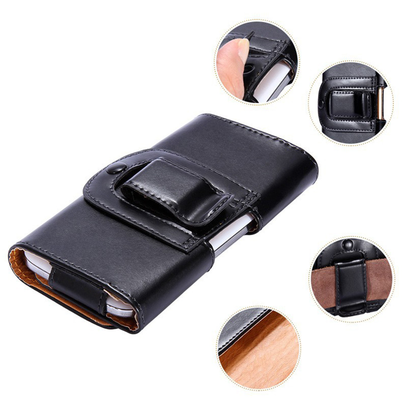 Universal PU Leather Phone Belt Clip Case Cover for lenovo p70 5inch Cell Phone Accessor ...