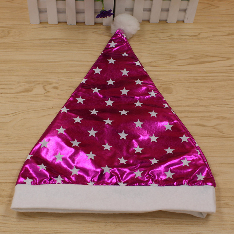 birthday party hat five pointed star plain cloth cap festive