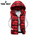 TANGNEST Detachable Hooded Vest 2017 New Arrival Fashionable Camouflage Winter Vest Warm Comfortable Asian Size 3XL Vest MWB226