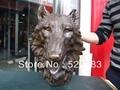 """18 """"สำริดจีนบริสุทธิ์กลั่นแกะสลักดุร้ายหมาป่าหัวรูปปั้น-ใน รูปปั้นและงานประติมากรรม จาก บ้านและสวน บน"""