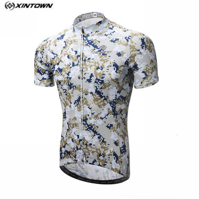 2017 XINTOWN Camouflage Cycling Jersey Men Bike Clothing Bicycle blouse Top  Ropa Ciclismo Racing T-Shirts Short sleeve Maillot 382d8534c