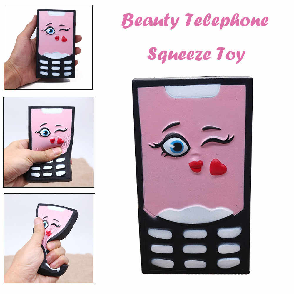 2019 Hot Soft Beauty Telephone Slow Rising Squeeze Relieve Stress Toy squishy smooshy mushy toys for children