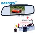 """Alta qualidade do carro invertendo conjunto incluem 5 """"espelho de estacionamento + função de visão noturna IR câmera de visão traseira do carro para Hyundai Elantra"""