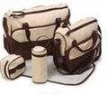 5 unids/set moda del bebé multifuncional mano del bolso del panal pañal infanticipate bolsos de la momia bolsas bebes luiertas
