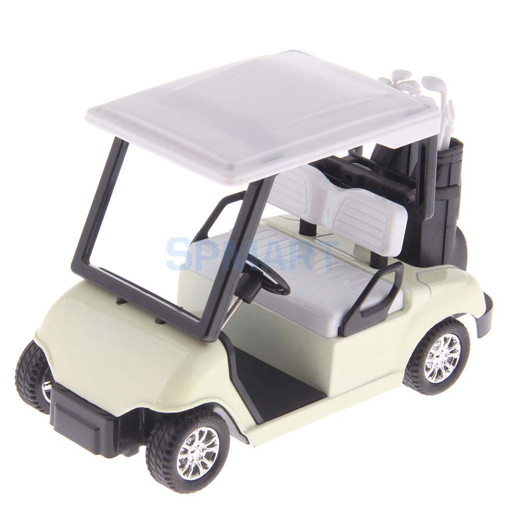 1:20 Scale Mini Alloy Pull Back Golf Cart with Clubs Diecast Model Toy Collectibles Birthday Gift