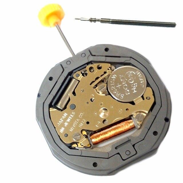 ae87df2ff31e3d MIYOTA 1M12 Gamma di Movimento Orologio Al Quarzo Piatto 3 H Data Batteria  Inclusa