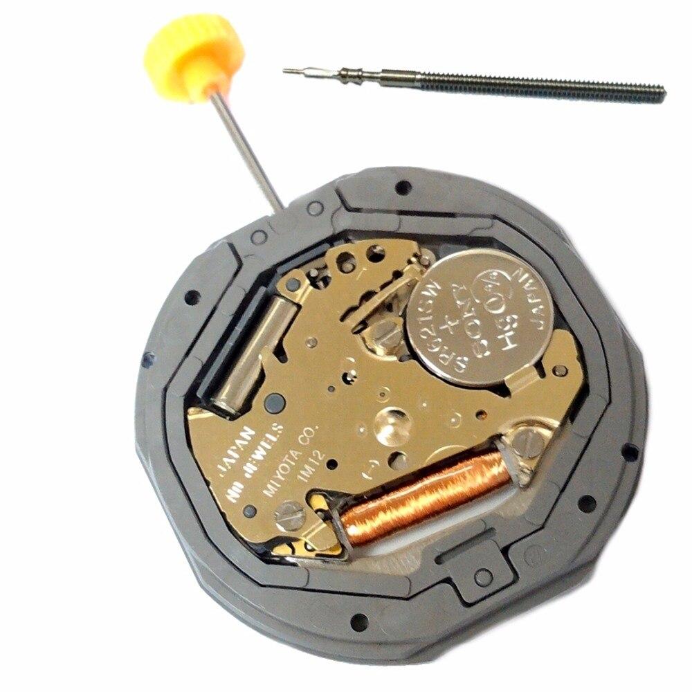 MIYOTA 1M12 Quartz Watch Movement Flat Range 3H Date Battery Included цена и фото