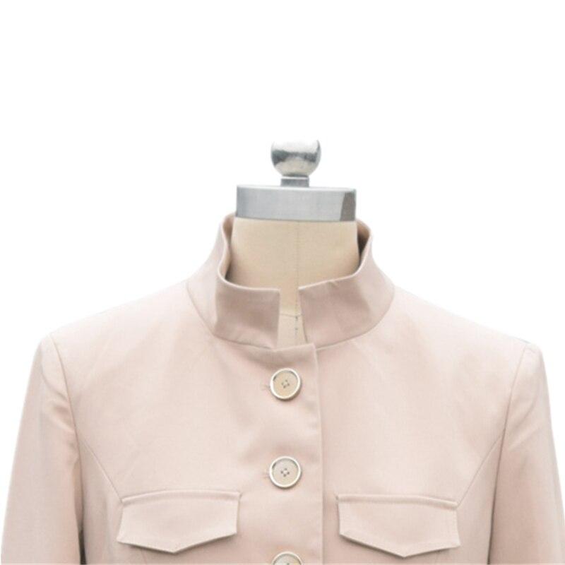 Unique 2019 Grande Montant coat Manteau Vêtement Longue Nouveau Pardessus vent De Printemps Femme Coupe Pour Khaki Trench Femelle Poitrine Taille Col Mince A8AzrTxqw