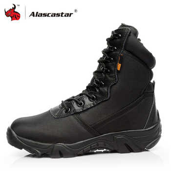 Motorcycle Boots Men Moto Motocross Riding Boots Military Boots Quality Special Force Tactical Desert Combat Army Work Boots - DISCOUNT ITEM  45 OFF Automobiles & Motorcycles