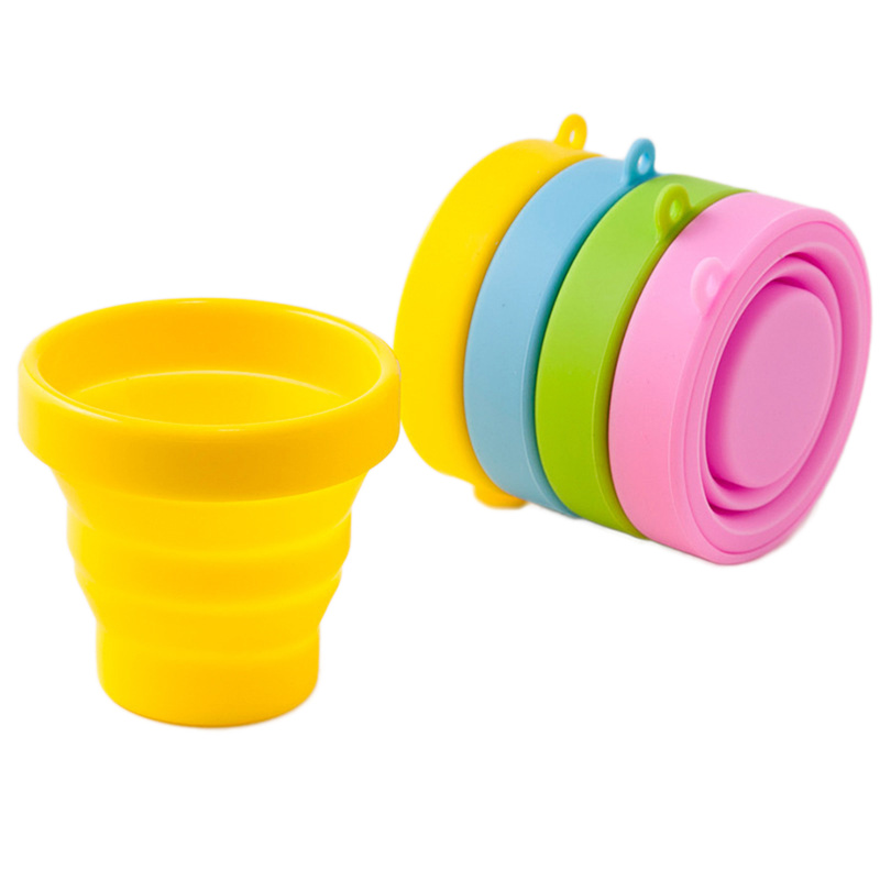 Folding-Cup Water-Cup Retractable Travel Collapsible Outdoor Silicone Camping with Telescopic title=