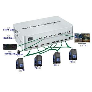 Image 3 - KVM HDMI 4X1 Quald מוטי הצופה Switcher ספליטר מתג חלק מתאם עם שלט רחוק עבור HDTV מחשב מחשב משלוח חינם