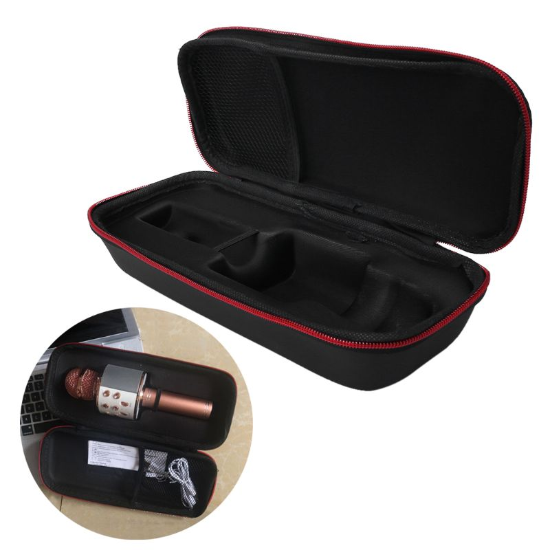 Microphone Storage Box Protective Bag Carrying Case Pouch Shockproof Travel Portable For Ws858