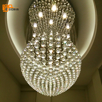 Large Modern Chandeliers Light Contemporary Staircases Lighting Fixtures Length 100cm