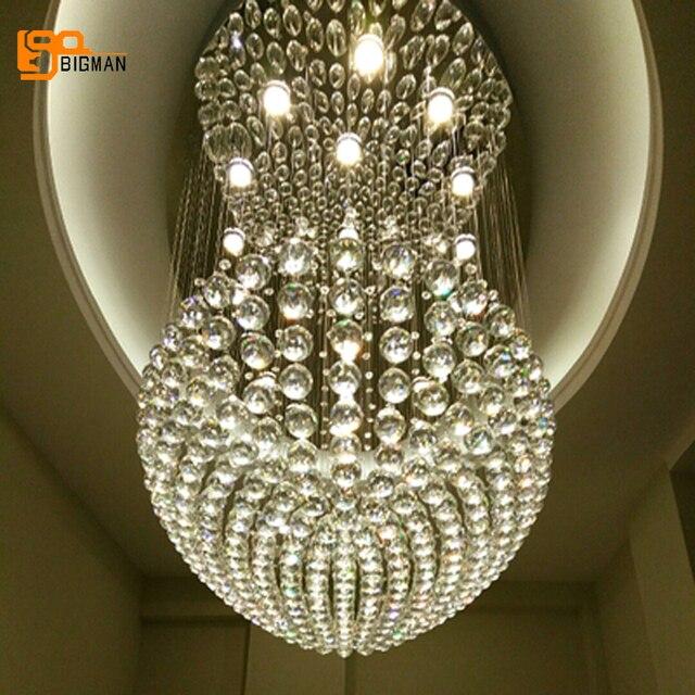 Moderne Kronleuchter Led große moderne kronleuchter kristall licht glanz hotel lobby