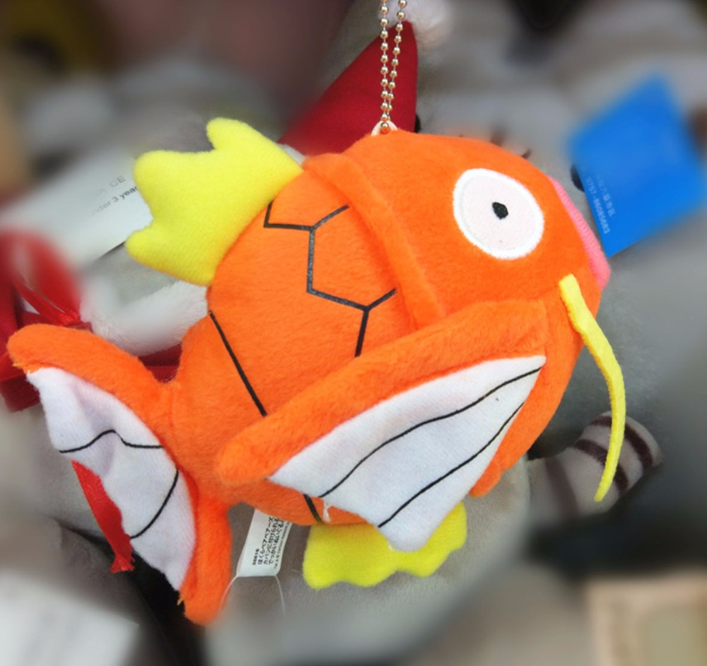 Hot Magikarp Plush Pendant With Keychain Mini Soft Stuffed Dolls Toy Good Kids Gift Toys