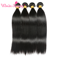 Wonder Beauty Hair Peruvian Straight Remy 1 Bundle 100% Human Hair Extension 8-26 Inches Hair Bundles Natural black Color
