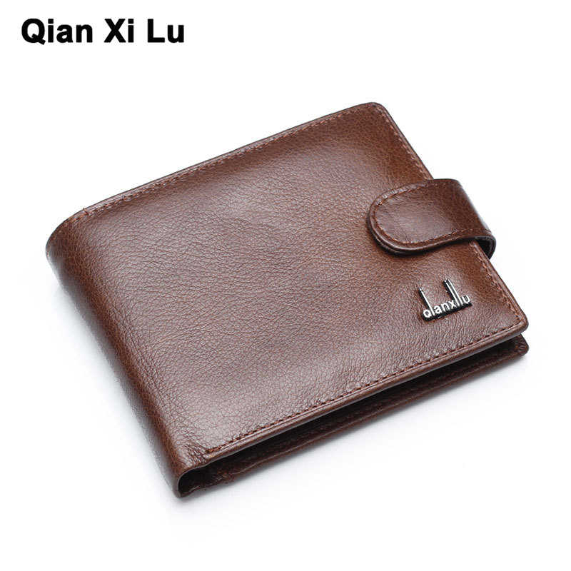 100% genuine leather wallet best wallets for man real leather purse with coin pocket trifold wallet men cowhide leather