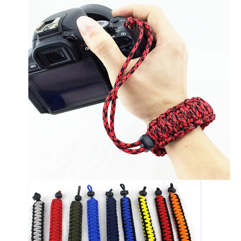 Newest Digital Camera Wrist Hand Strap Grip Paracord Braided Wristband For Nikon Canon Sony Pentax Minolta SLR DSL
