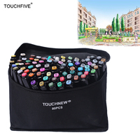 Touchfive 36 48 72 80 Colors Art Marker Set Dual Head Sketch Markers Brush Pen For