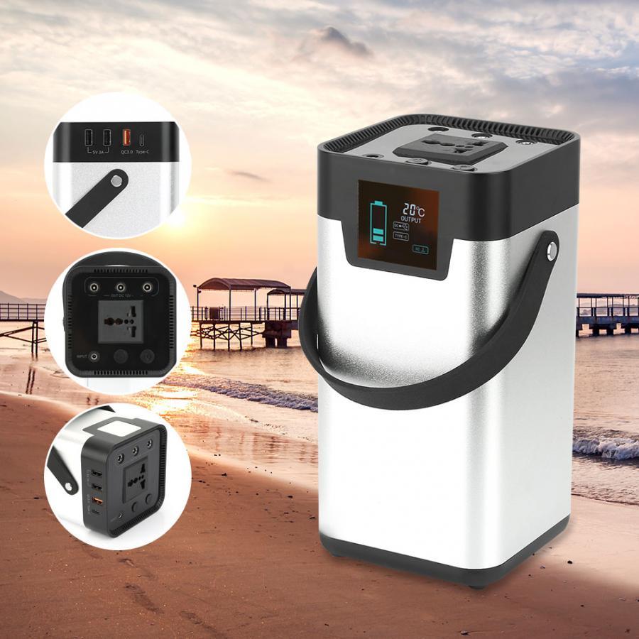 200W 52500mAh générateur solaire Portable UPS onde sinusoïdale LED d'alimentation lumière USB LCD affichage stockage d'énergie camping US Plug