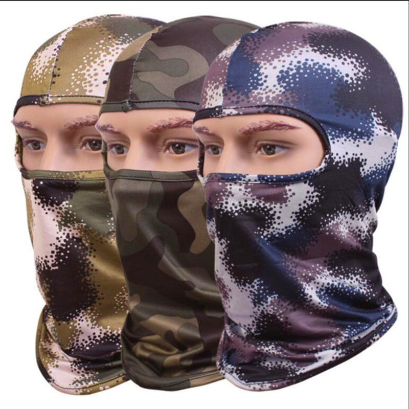 New 2017 Camouflage Balaclava Tactical Airsoft Hunting Camouflage Army Cycling Motorcycle Cap Hats CS Full Face Mask