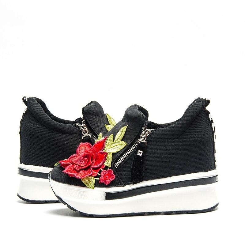 Bling Boda Cuña Negro Plataforma Verano Para Plataformas De Vulcanizar Con Diamantes Imitación Fujin Mujeres Deslizamiento 2019 Cristal En Marca Las Zapatos rojo 7x6RBESnqw