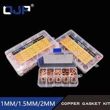 150PC 15Sizes M5 M6 M8 M9 M10 M12 M14 M16 M18 M20 T3 ORing Gasket Sealing Ring Copper Washer Boat Crush Washer Flat Ring Set Ki