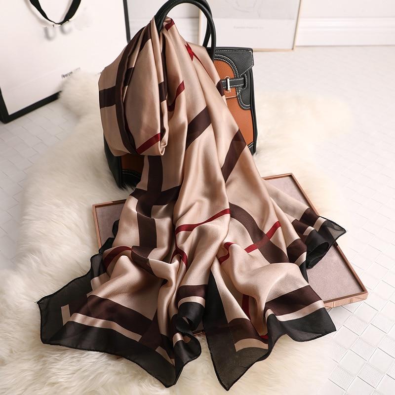 2019 Luxury Brand Women Scarf Fashion Print Silk Scarves Summer Shawls And Wraps Soft Pashmina Lady Bandana Foulard Hijabs