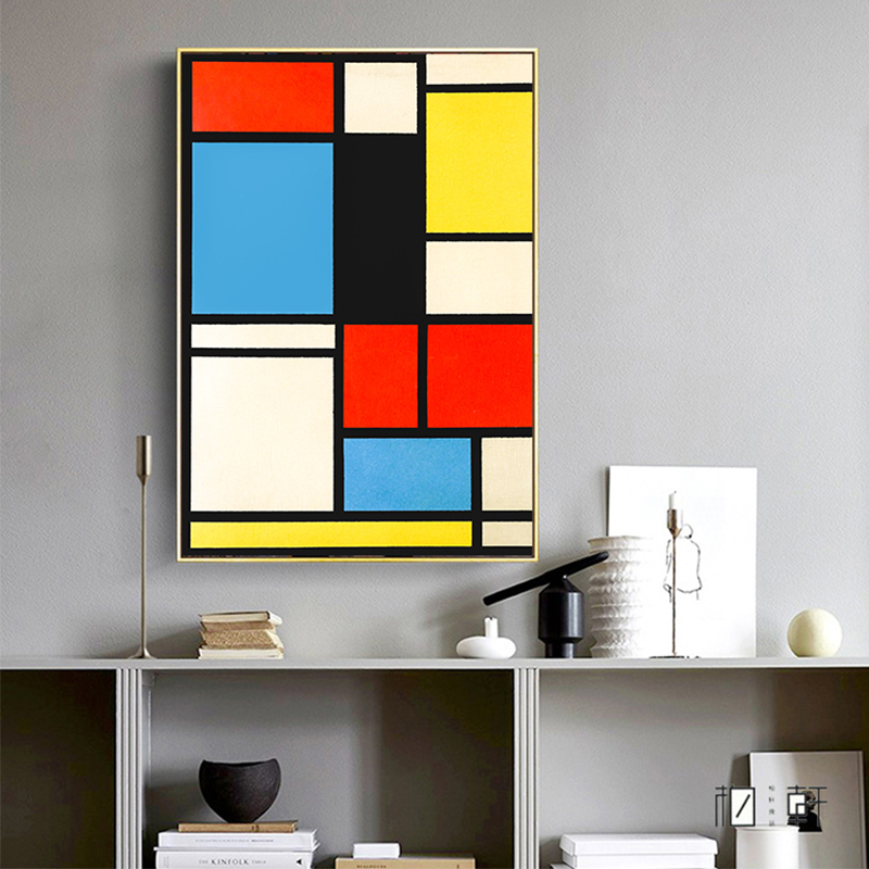 Piet-Cornelies-Mondrian-Classic-Art-Geometry-Line-Red-Blue-Yellow-Composition-Canvas-Print-Painting-Poster-Wall (2)