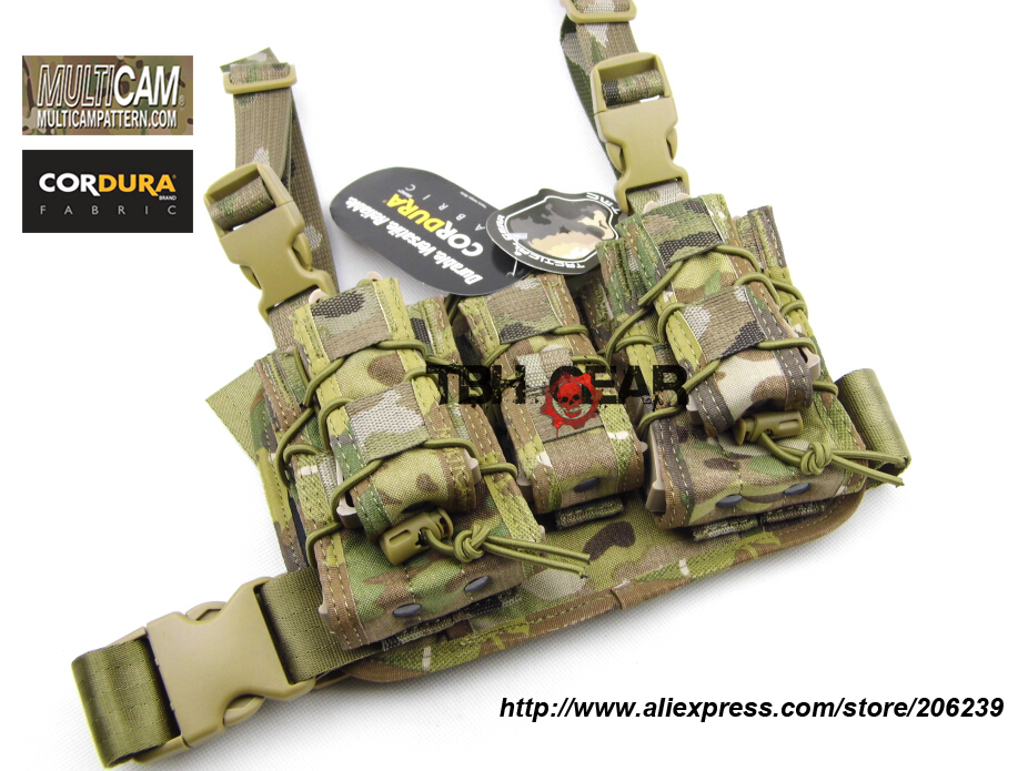 TMC Hight Hang Magazine Pouch and Panel Platform Set In Cordura Mulitcam Airsoft Paintball Pouch+Free shipping(SKU12050469) airsoft adults cs field game skeleton warrior skull paintball mask