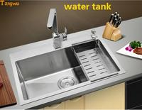 Boss Sanitary Ware 304 Stainless Steel Hand Tank Kitchen Thickening Hand Sink Drawing Thickening Manual Sink