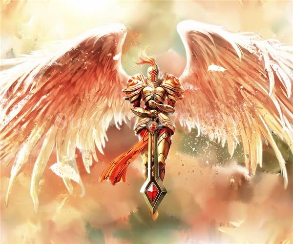 diy diamond painting cross stitch cartoon angel warrior crystal full