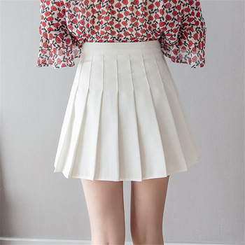 Women high waist pleated skirt Sweet Cute Girls   2