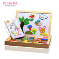 Multifunctional Wooden Magnetic Puzzle Drawing Writing Board Toy Set Children Educational Blackboard Whiteboard Toys for Kids