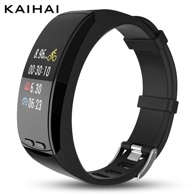 KAIHAI thời trang smart watch thể thao điện tử mặc Trái Tim Tỷ Lệ Màn Hình người đàn ông Đồng Hồ Báo Thức Đồng Hồ smartwatch GPS cho android iphone
