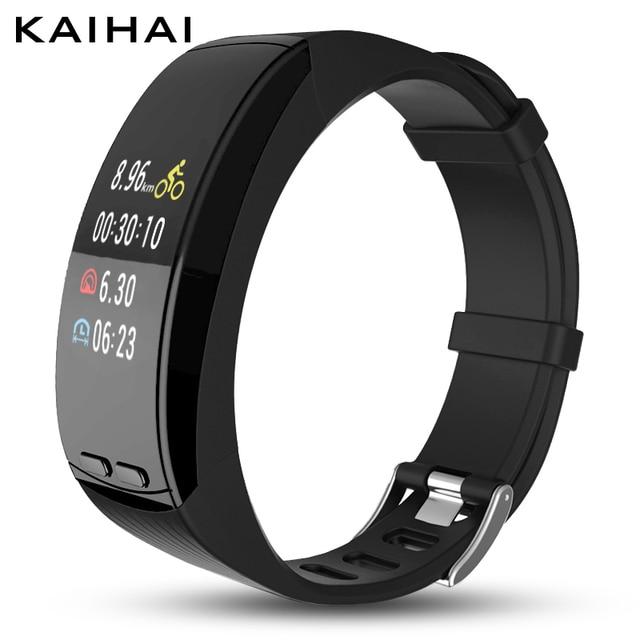 Reloj inteligente de moda KAIHAI para deportes, dispositivos electrónicos, Monitor de ritmo cardíaco, relojes para hombre, reloj despertador, GPS, para iphone android