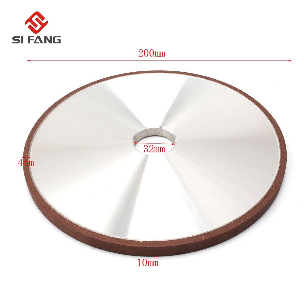 Disque de meulage de meule de diamant de 200mm pour la meule d'affûtage de meule outils abrasifs rotatifs 100/120/150/180 grain - 2