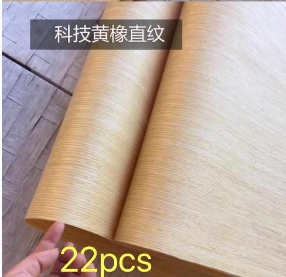 22PCS/LOT. L:2.5Meter  Width:60cm  Thickness:0.25mm  Technology Straight Grain Yellow Oak Bark Wood Veneer