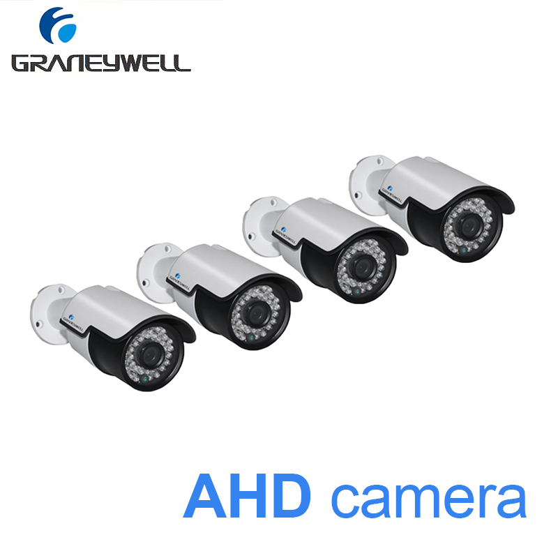 цена 4 PCS AHD 1080p Security Camera Night Vision Home DVR Monitor Camera 36 IR LEDs Waterproof Bullet CCTV Video Surveillance Cam