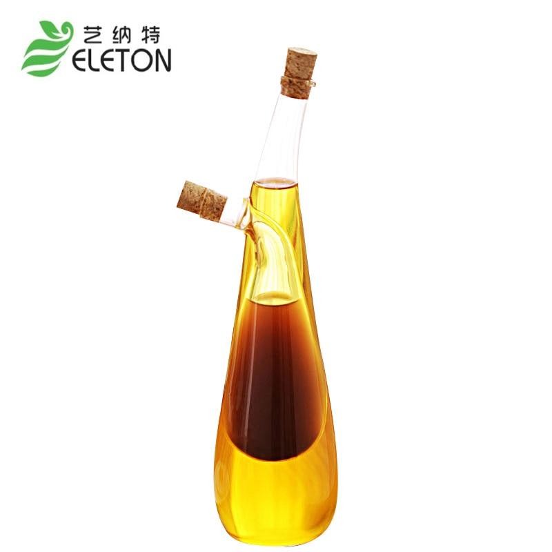 ELETON Seal condimento botella suministros de cocina aceite vinagre - Organización y almacenamiento en la casa