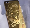 El más nuevo Diseño de Leopardo de Lujo 24 k Chapado En Oro de Metal Cubierta de La Contraportada de Reemplazo para iPhone7 Plus Perfect Fit Envío Gratis