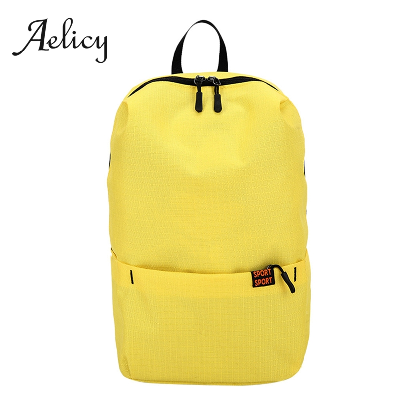 Aelicy Candy Color Backpack Casual Lightweight Students Foldable School Bag Waterproof Nylon Travel Backpack Large CapacityAelicy Candy Color Backpack Casual Lightweight Students Foldable School Bag Waterproof Nylon Travel Backpack Large Capacity