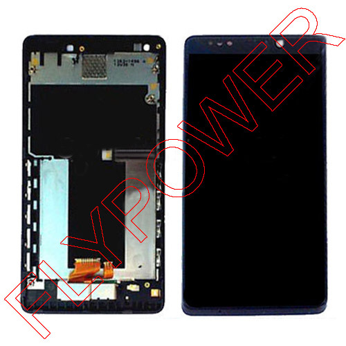 For Sony for Xperia T TL LT30 LT30i LT30P LCD Display Touch Screen Front Digitizer+ Frame Assembly By Free Shipping ...