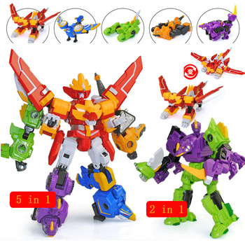 Assembled Megazord Robots Dinozords Transformation Action Figure Toys Deformation Dinosaur Rangers Robot Boy Children Gifts image