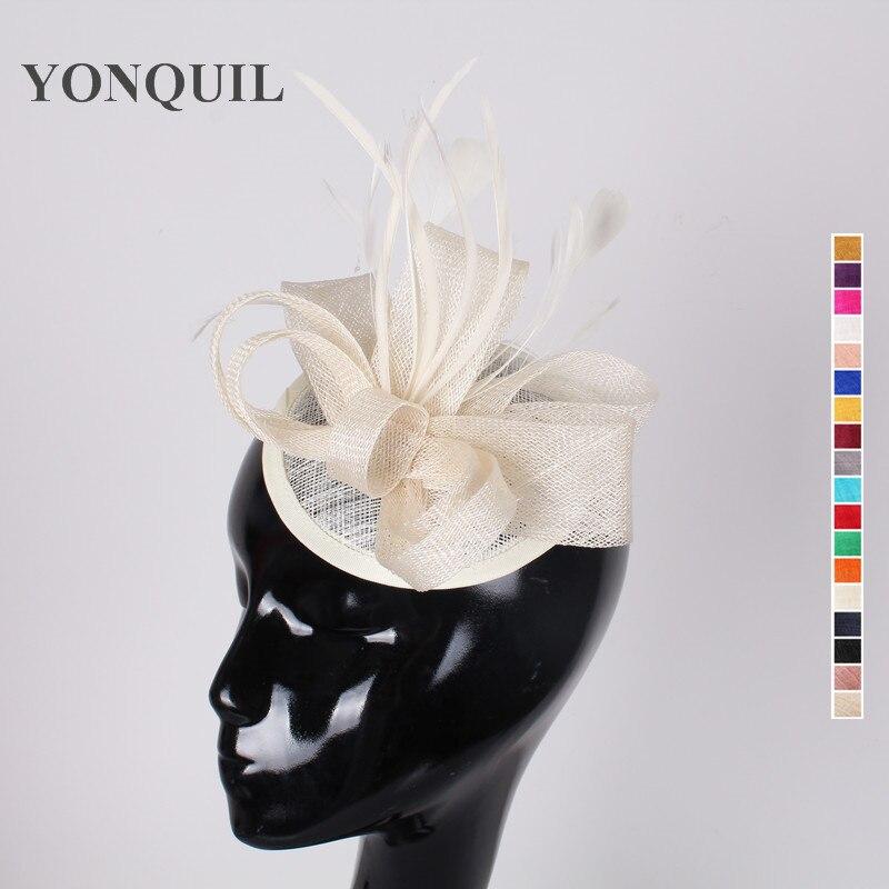 colores nupcial pedazo principal de la boda sombreros y flores de tela con tocados de
