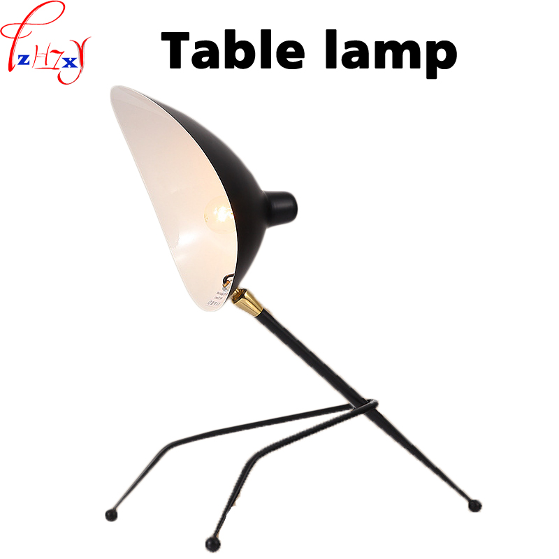 Vintage table reading lamp from iron art simplicity incandescent lamp bedroom office lighting  110/220V toefl reading